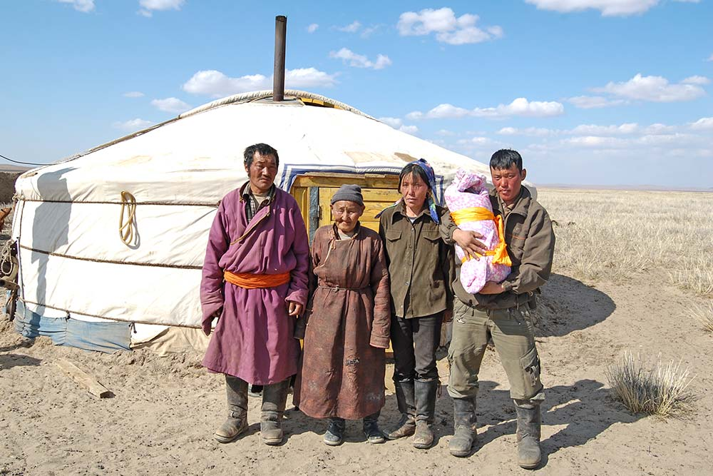 A family that I visited in their ger in the Gobi.