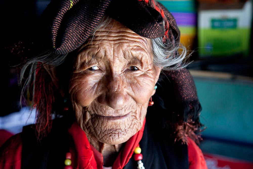 A 90 year old TIbetan woman I met on the way back to Lhasa.