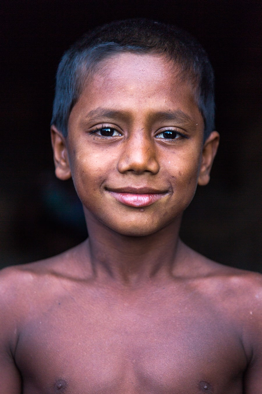 Portrait of a proud boy on the way to Srimangal, Bangladesh.
