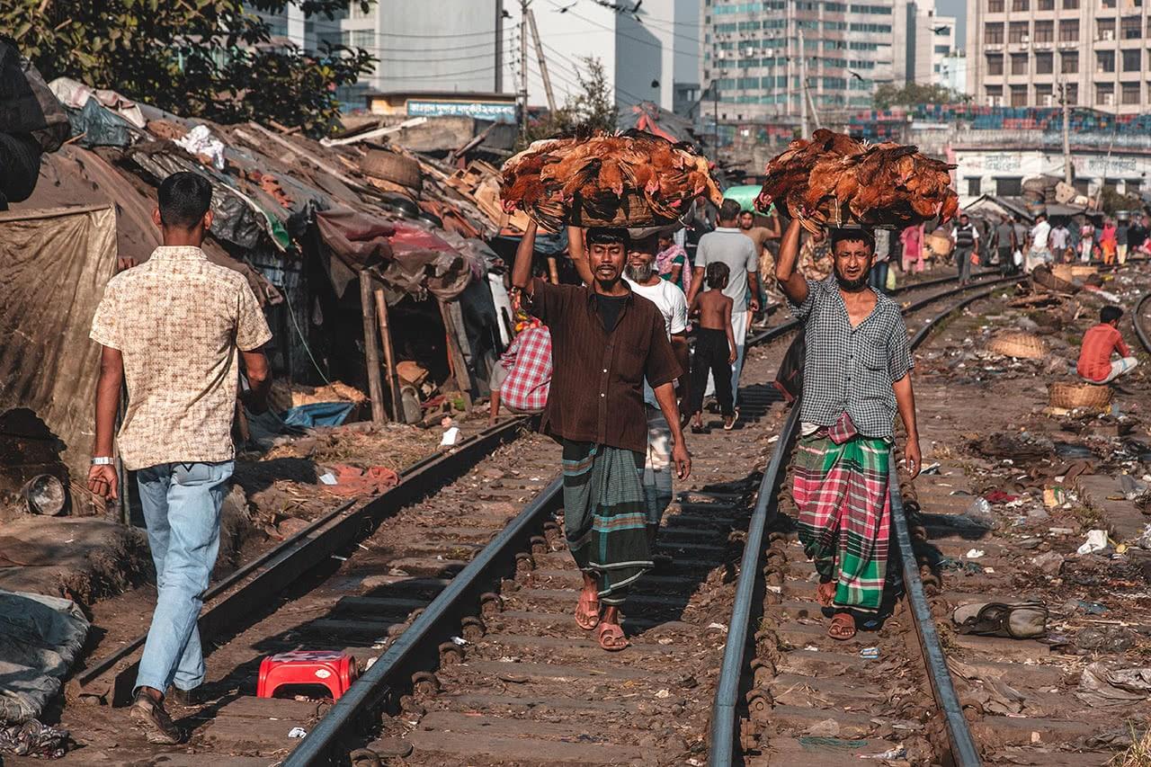 Tejgaon Railway Market, Dhaka, Bangladesh.