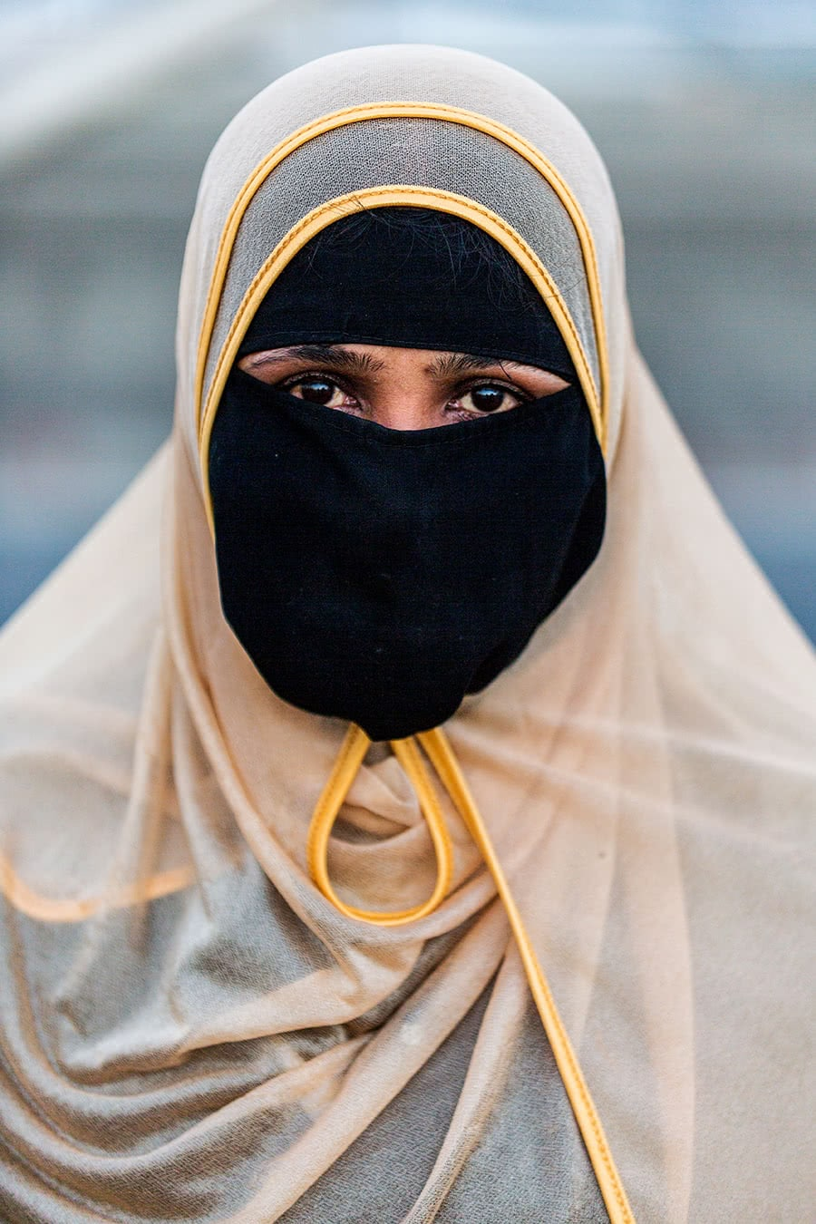A woman wearing a Burka in Chittagong, Bangladesh.