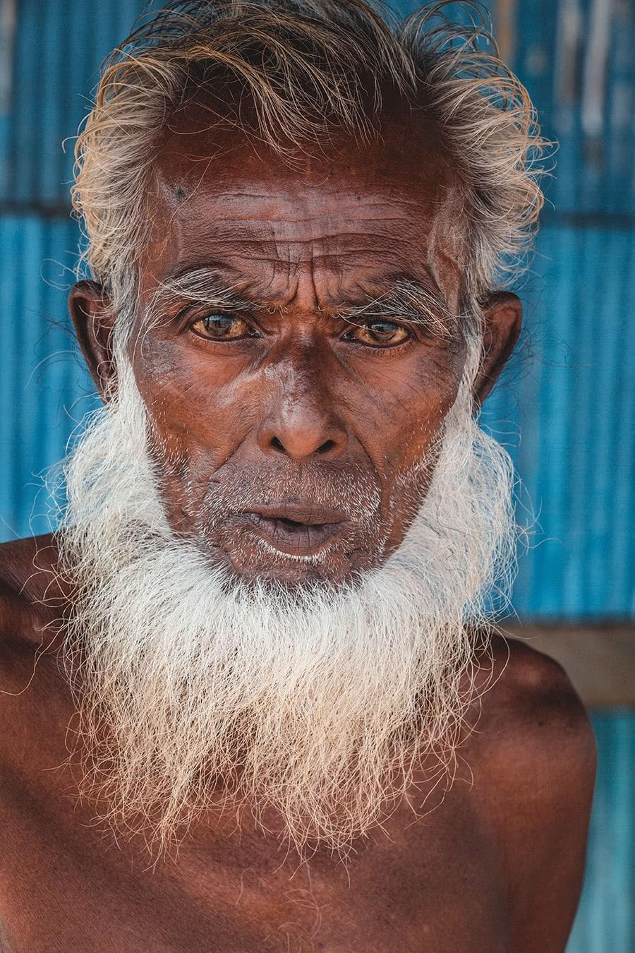 Man living in the Sundarbuns, Bangladesh.