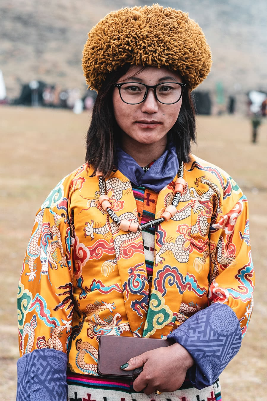 A woman from the Sarchop minority attending the Royal Highlander festival in Laya, Bhutan.