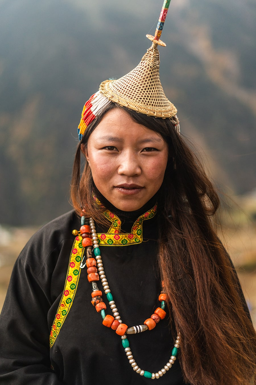 A Layap woman in Laya, Bhutan's highest permanent settlement.