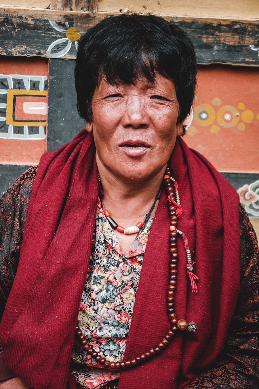 Shop vendor in Thimphu, Bhutan.