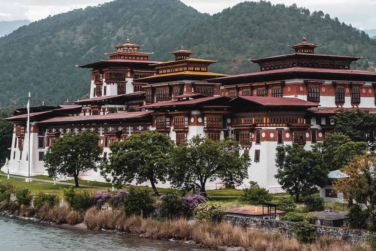 Punakha Dzong, arguably Bhutan's most beautiful.