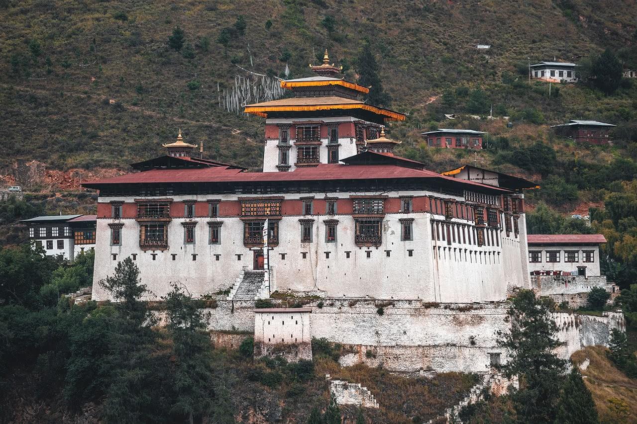 Rinpung Dzong, located in Paro, Bhutan.