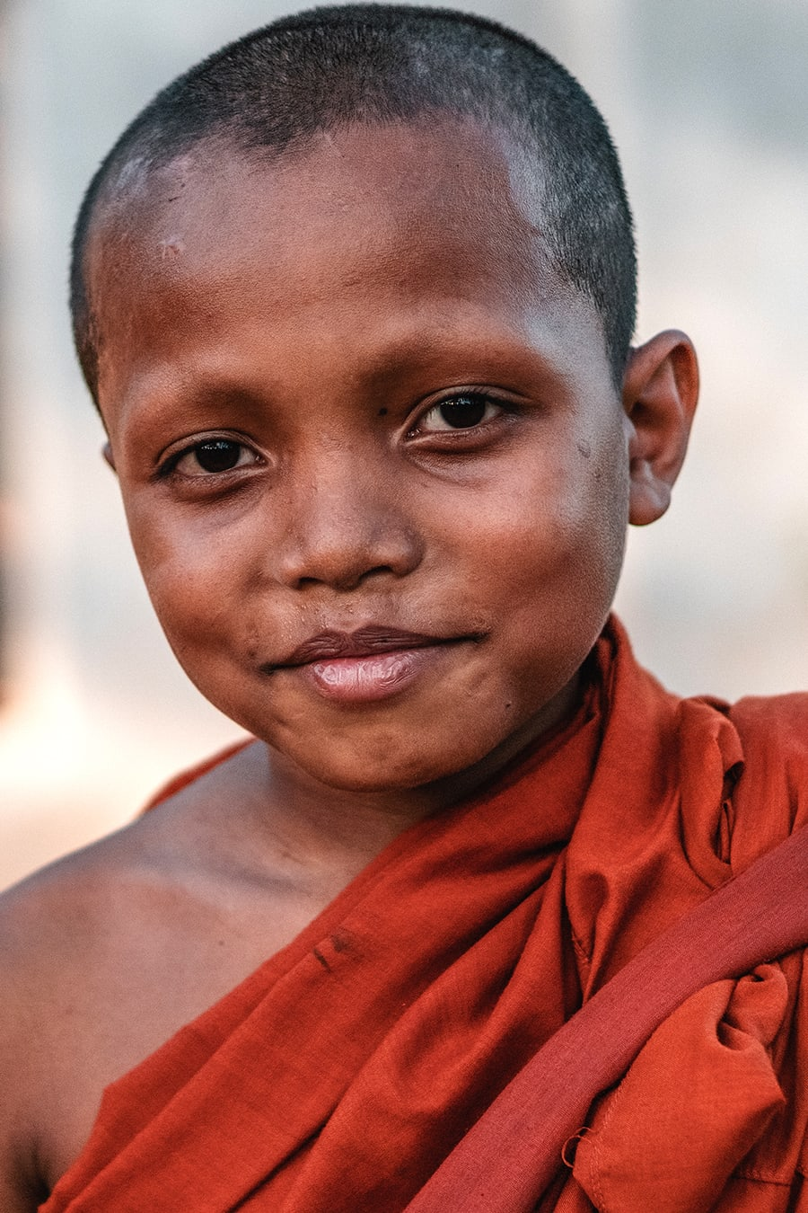 Novice monk in Siem Reap, Cambodia.