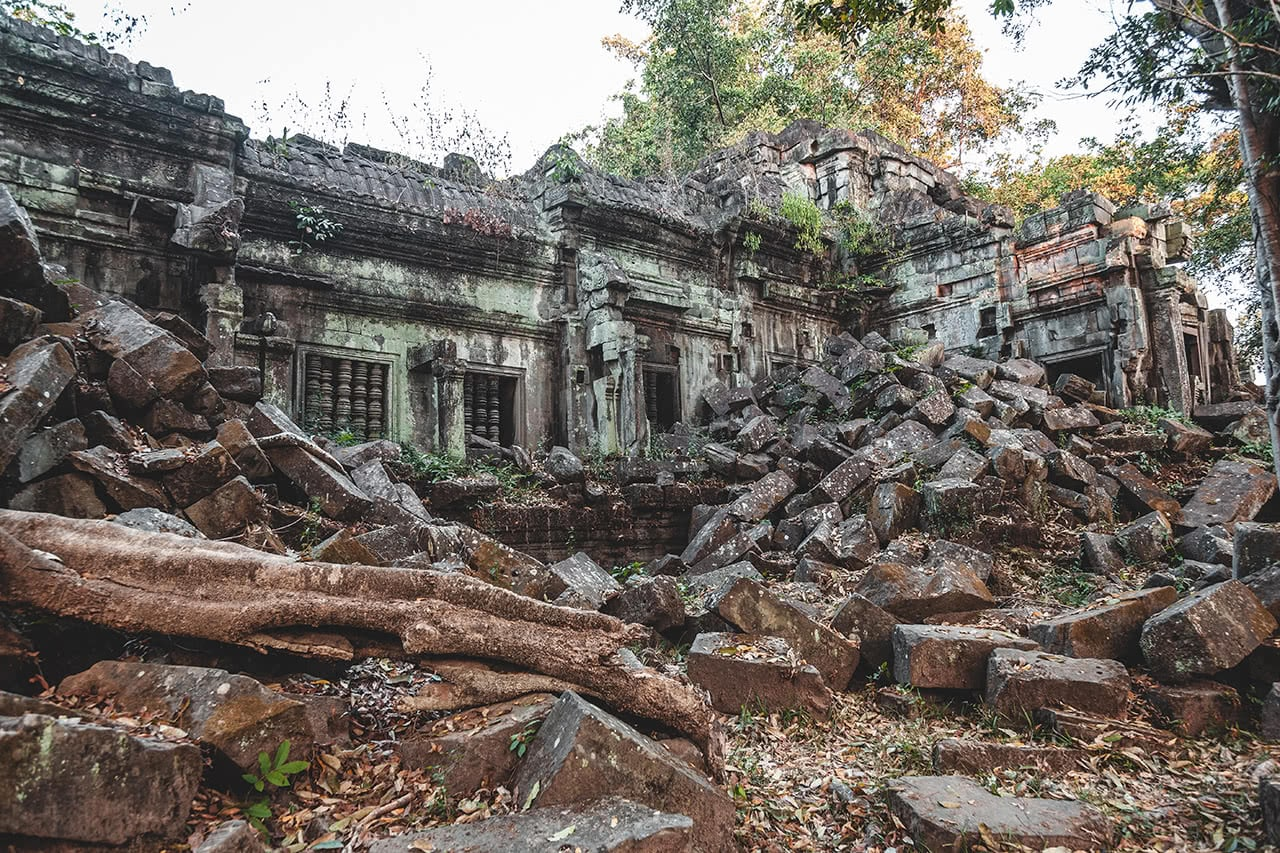Beautiful unrestored Beng Mealea temple in Cambodia.
