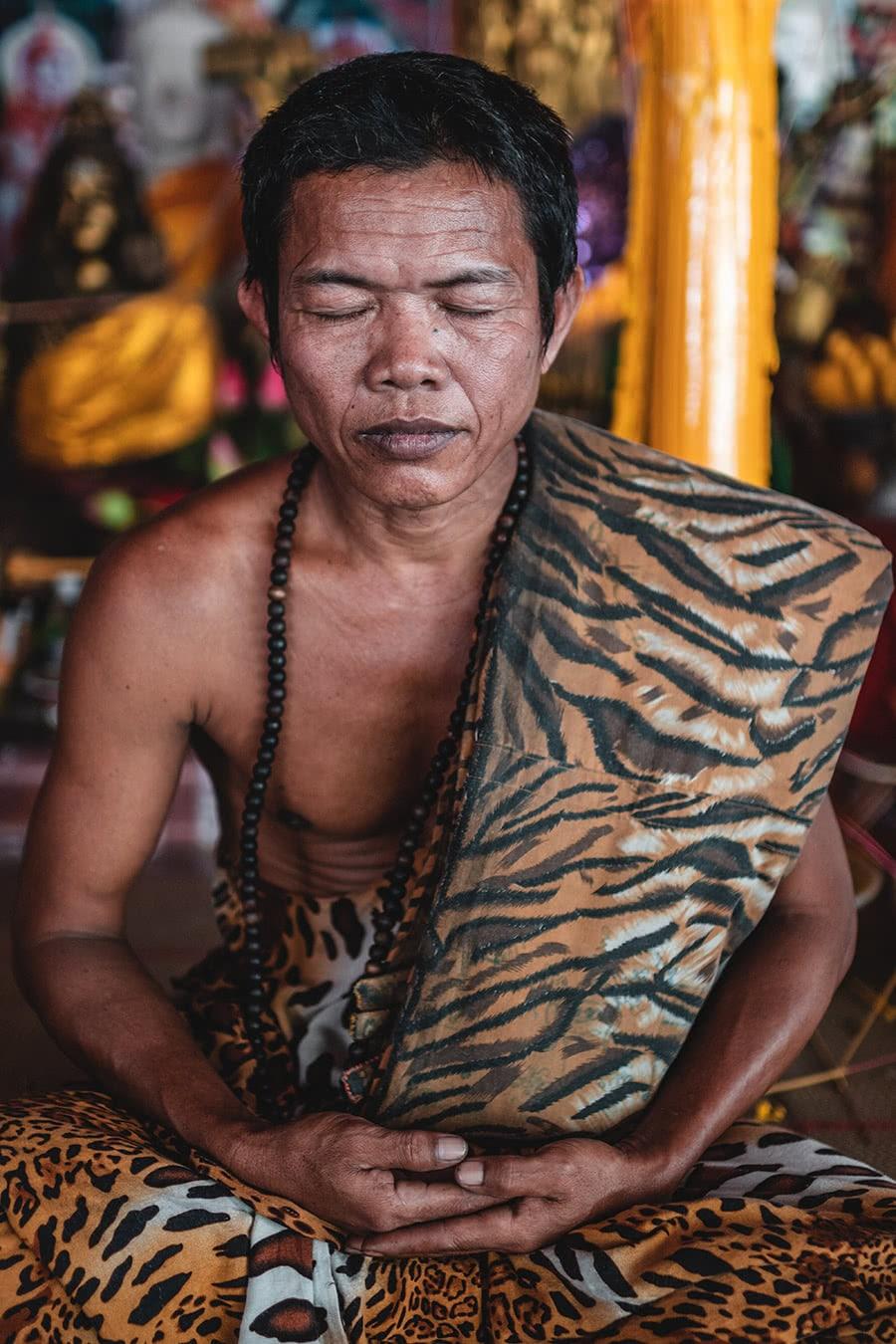 Cave monk at Phnom Kulen, Cambodia