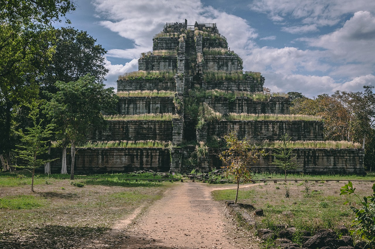 The remote 10th century Koh Ker temple has a design that is very different than other Khmer temples.