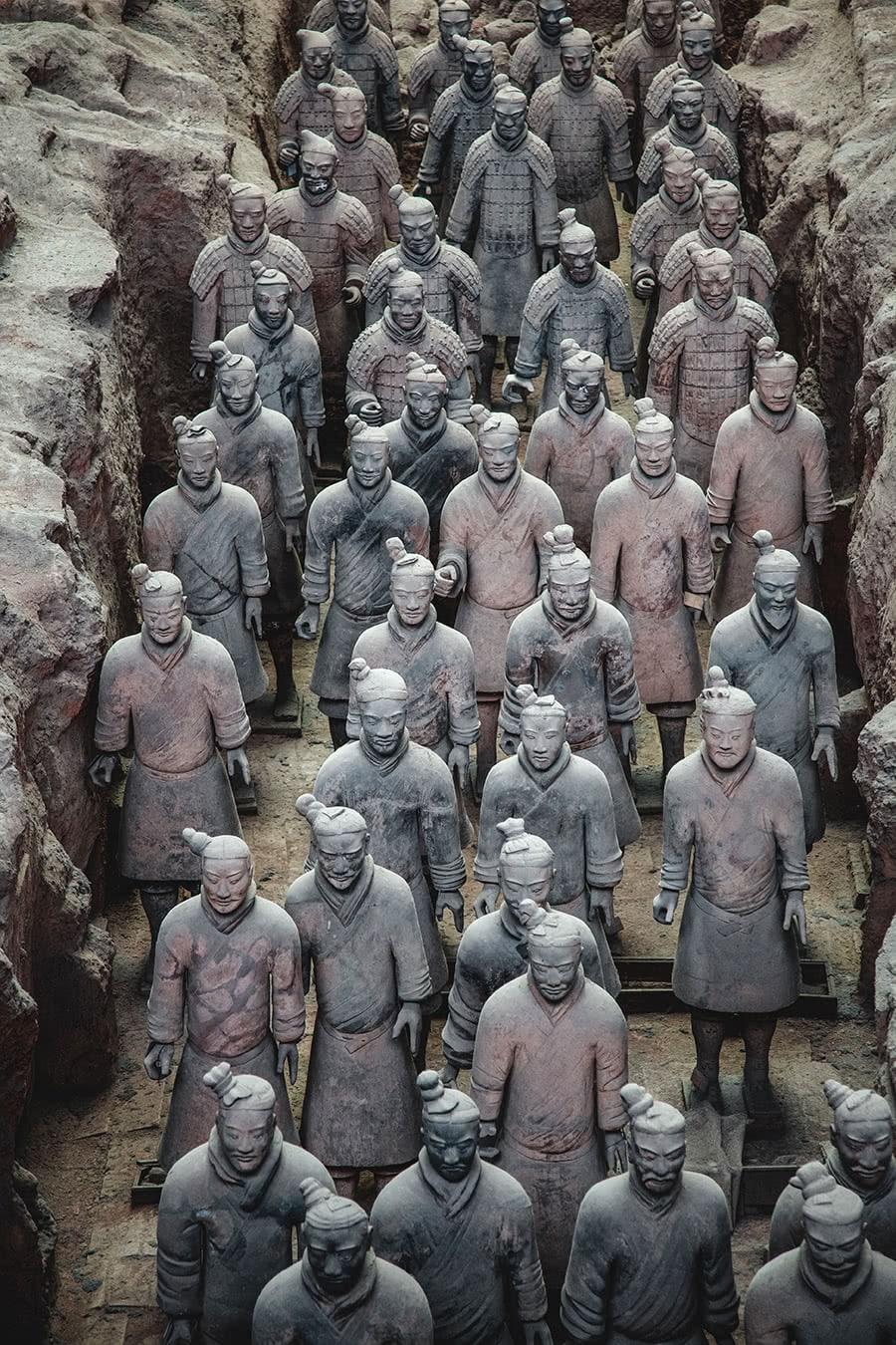 Terracotta warriors in Xian, China.