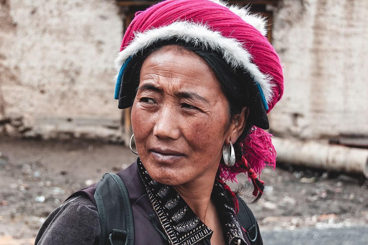 "Tibetan woman in Zhongdian, also known as ""Shangri-La"", China."