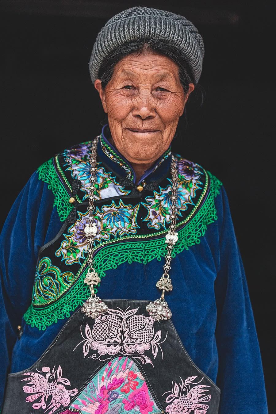Yi minority woman, Yunnan, China.