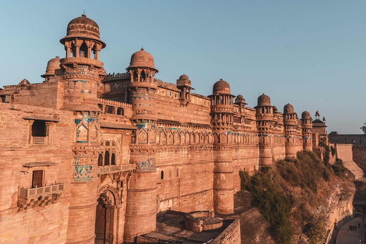 The ancient Gwalior Fort in India's Madhya Pradesh.