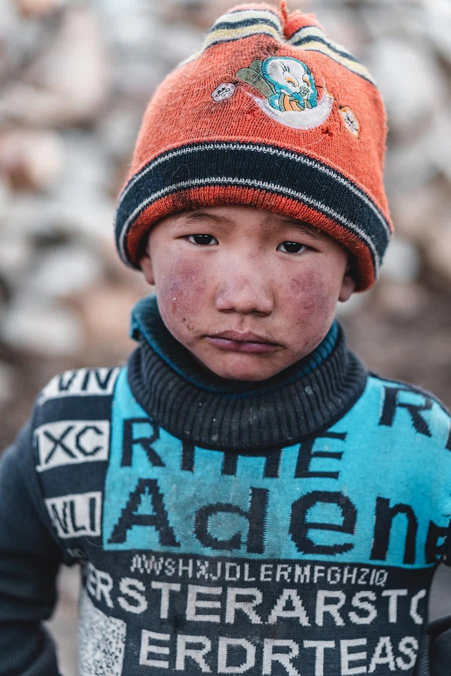 Nomad boy at Tso Moriri Lake, Ladakh.