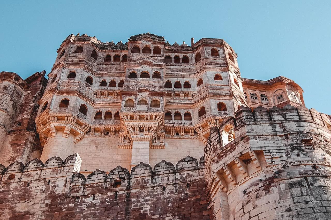 Mehrangarh Fort, Jodhpur, Rajasthan, India.