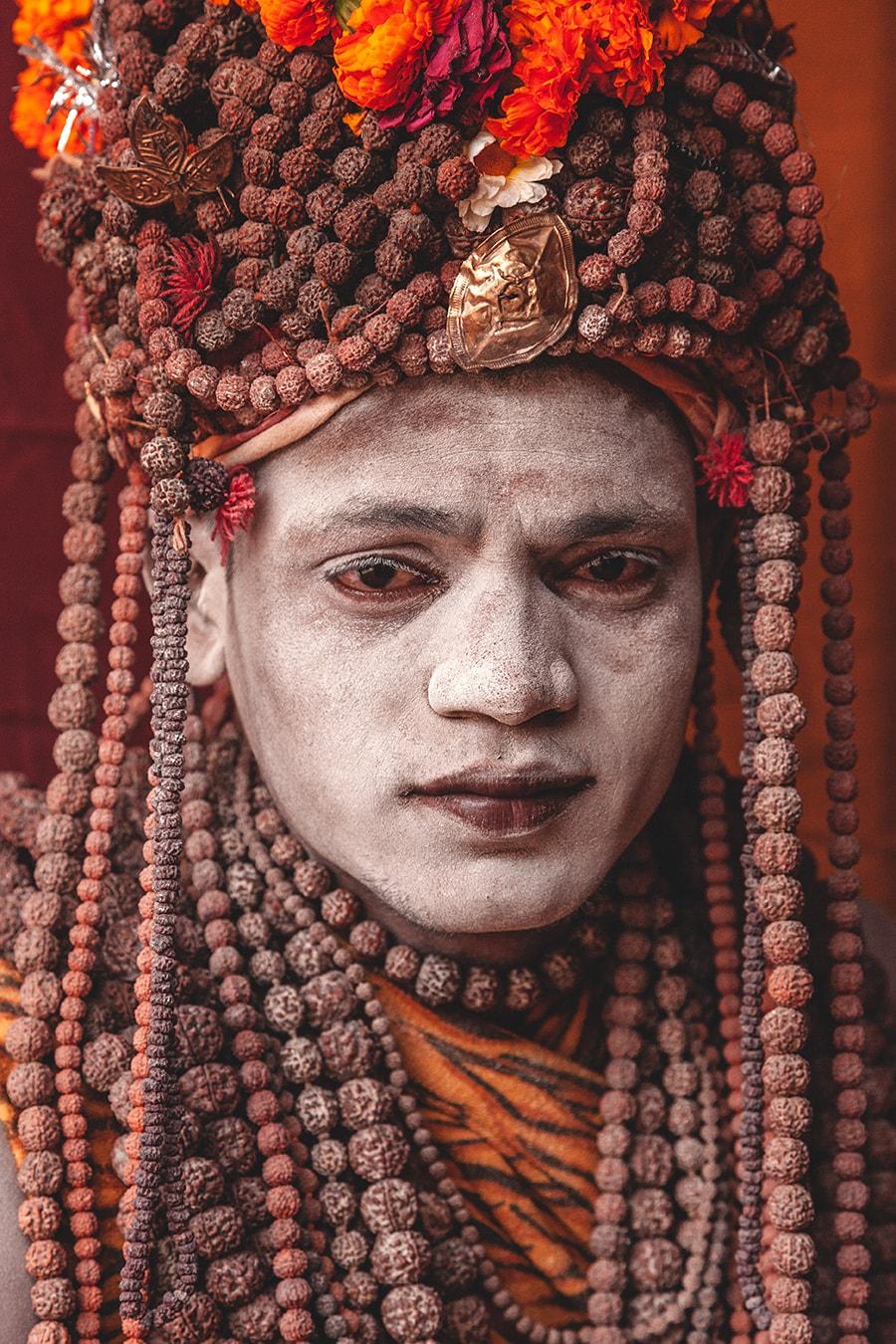 Naga Baba at the Maha Kumbh Mela in Allahbad, India.