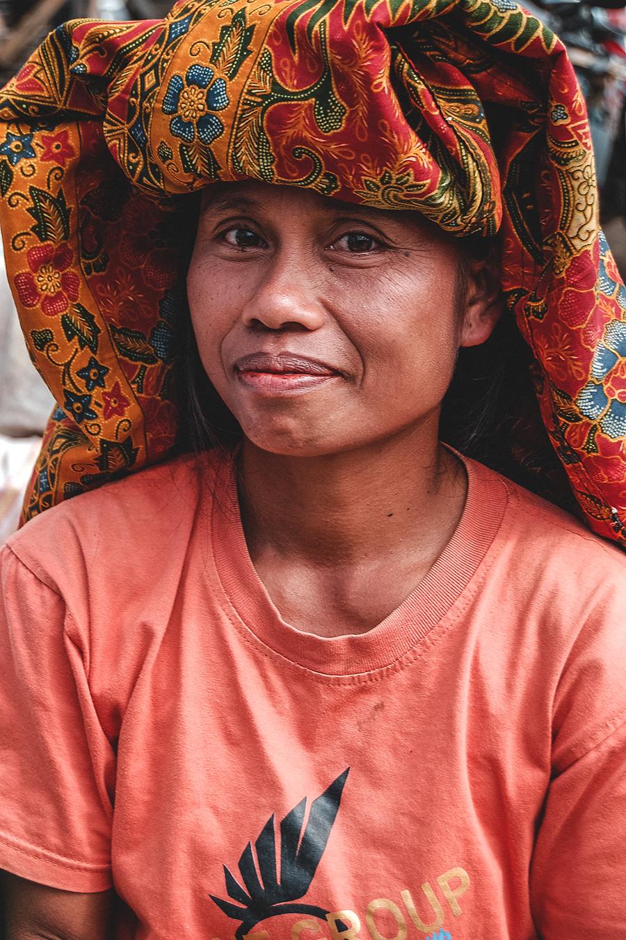 Market vendor in Toraja, Indonesia.