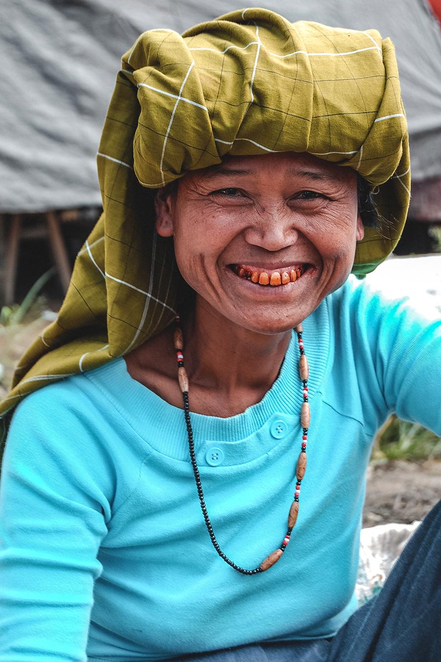 Market vendor in Toraja, Sulawesi.