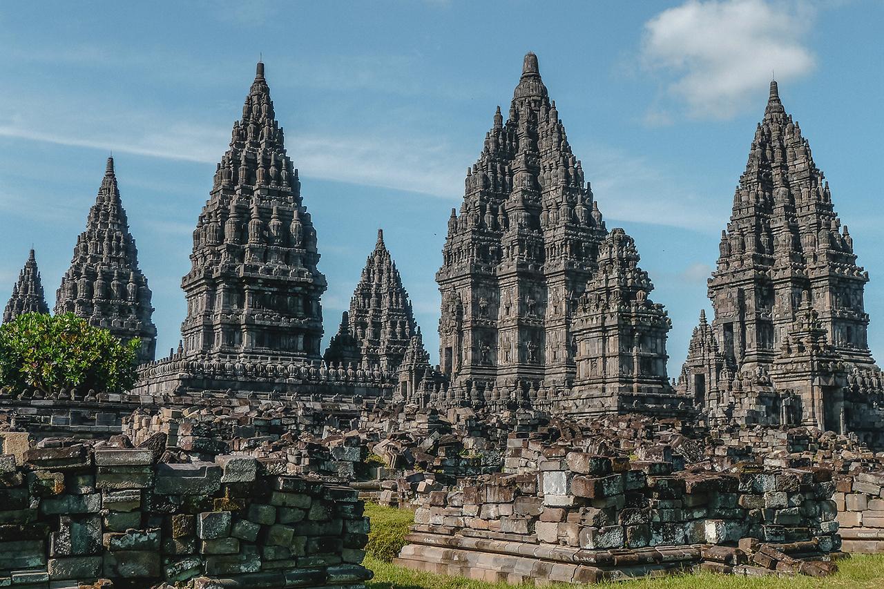 Ancient hindu temples of Prambanan in Yogyakarta, Indonesia.