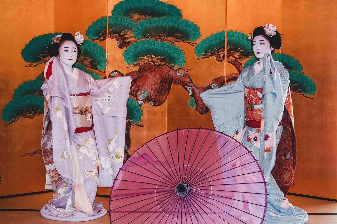 Geisha performance in Kyoto.