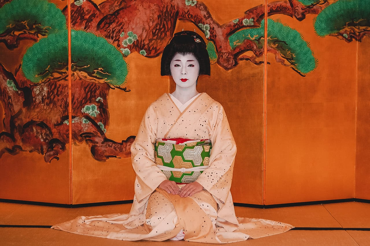 Geisha in Kyoto, Japan.