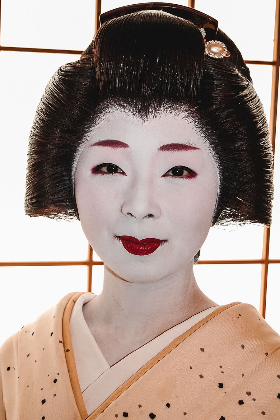 Portrait of geisha in Kyoto, Japan.