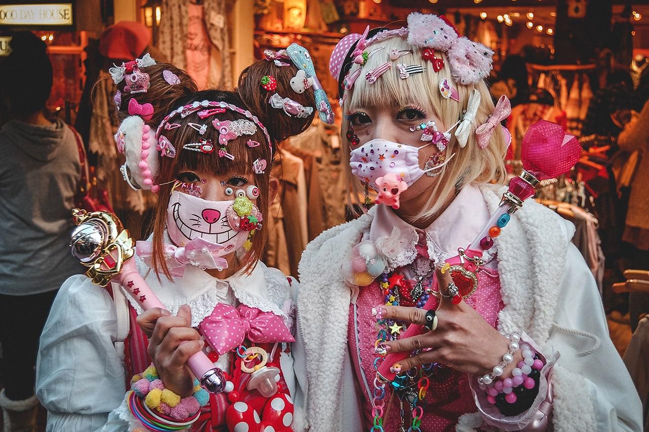 Cosplay girls in Harajuku, Tokyo.
