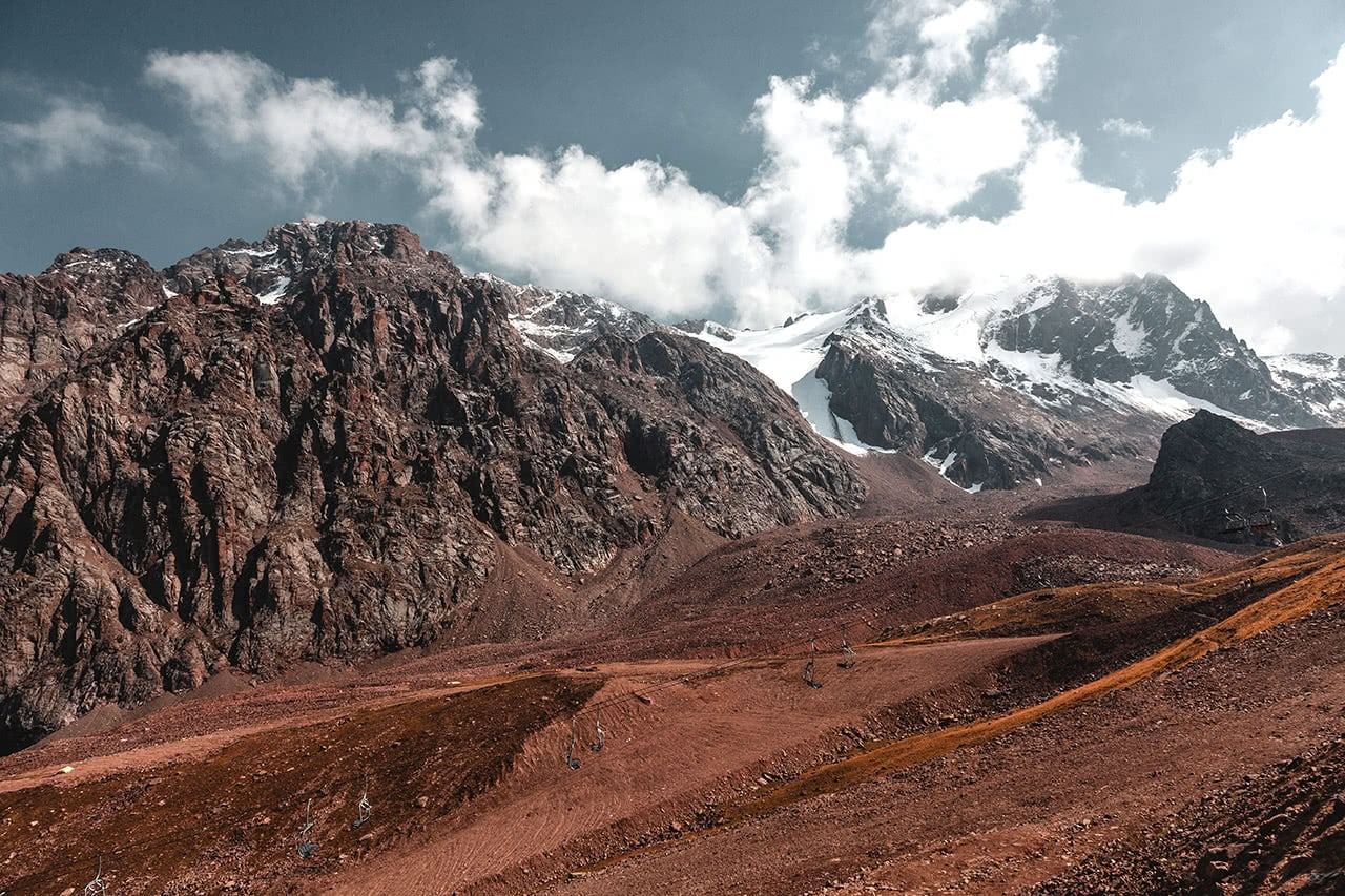 Medeo Gorge, located just outside of Almaty sits at 3,200 meters in altitude.