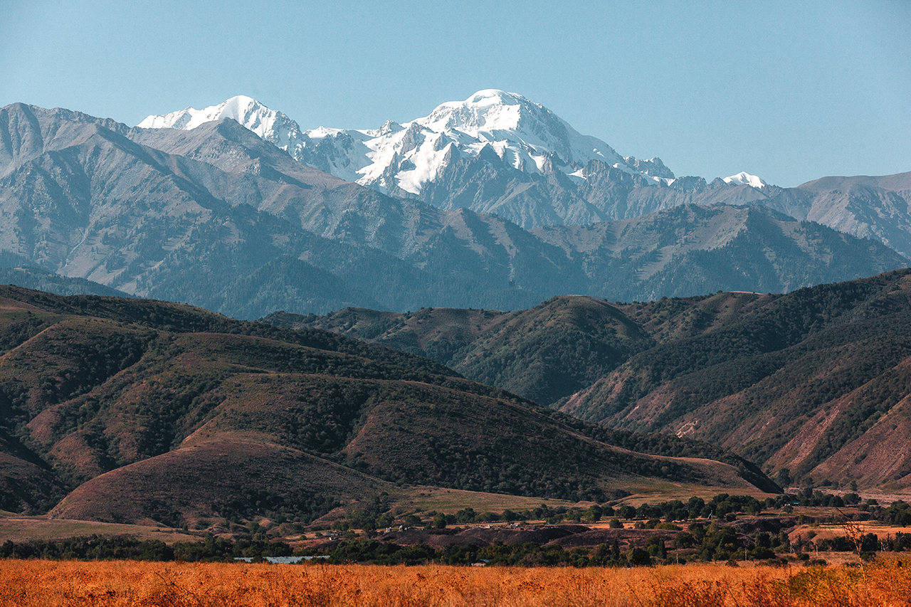 View of the Tien Shan Mountains, Kazakhstan