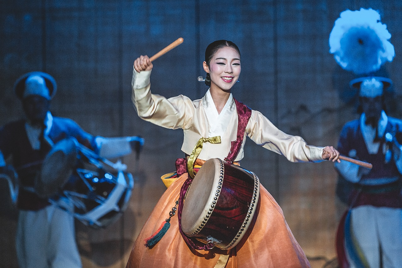 Performer at Korea House, in Seoul.