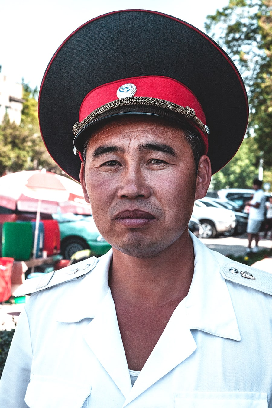 A policeman in Krygyzstan's capital Bishkek.