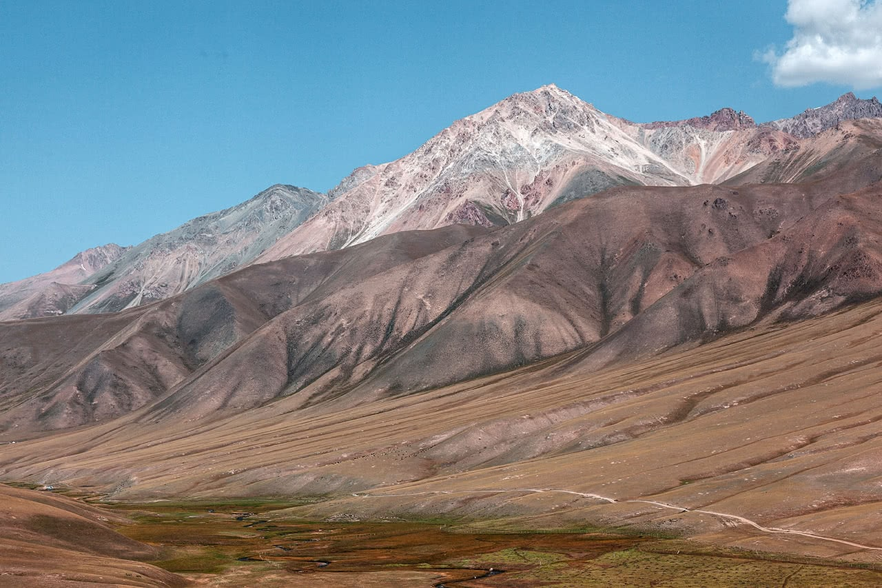 Beautiful scenery on the way to Song-Kul Lake in Kyrgyzstan.
