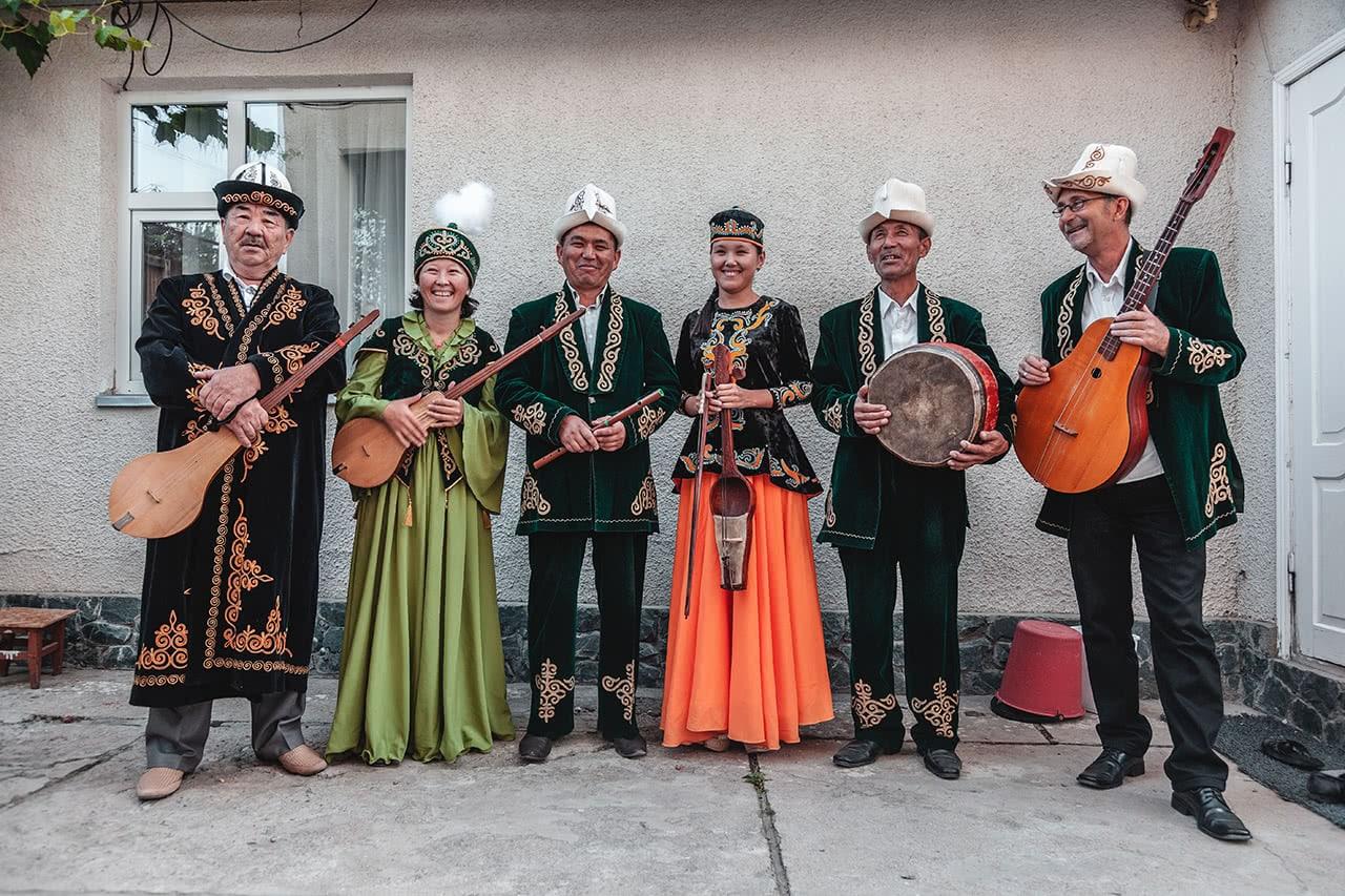 Kyrgyz musicians in Karakol, Kyrgyzstan.