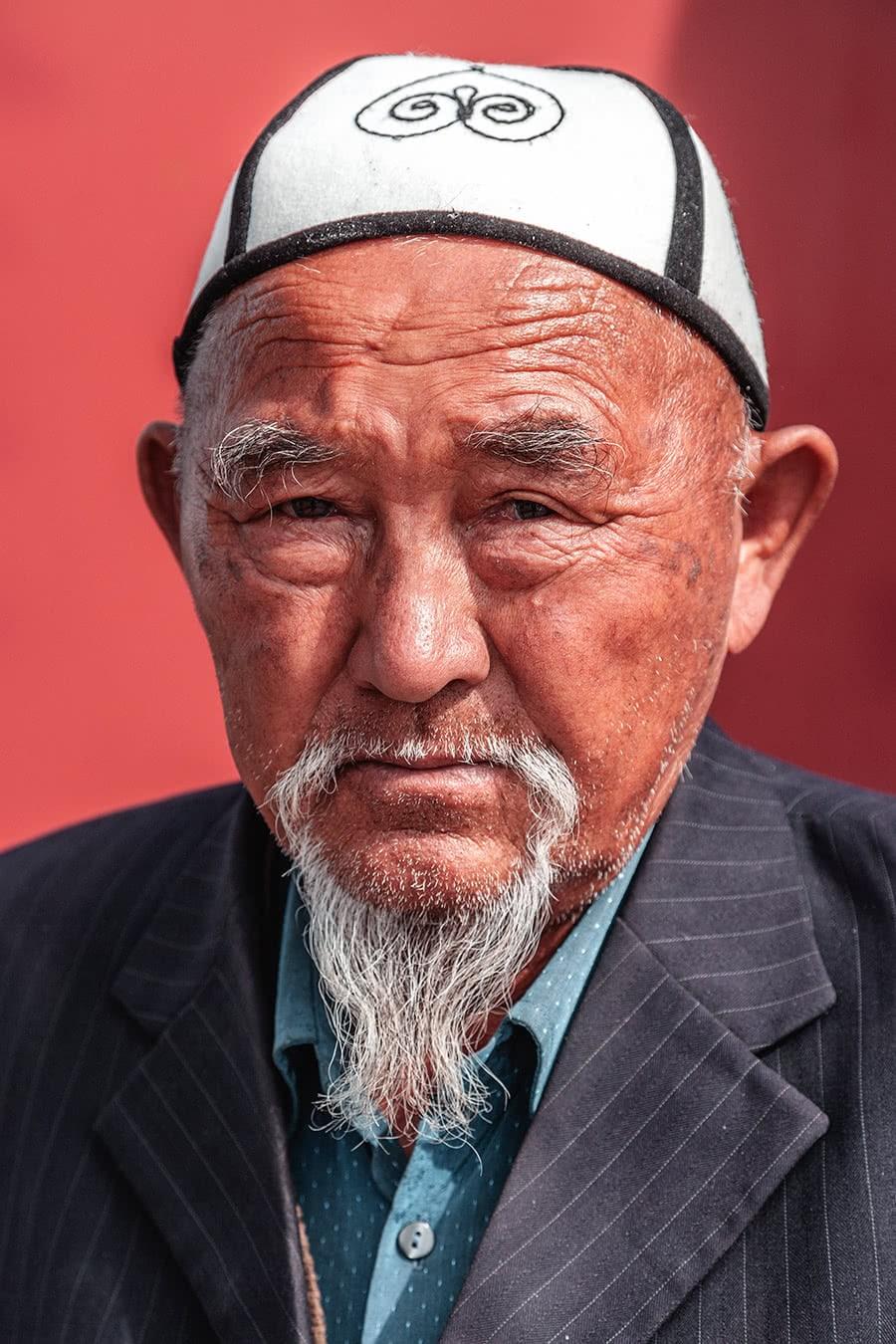 A Kyrgyz man in the town of Karakol.
