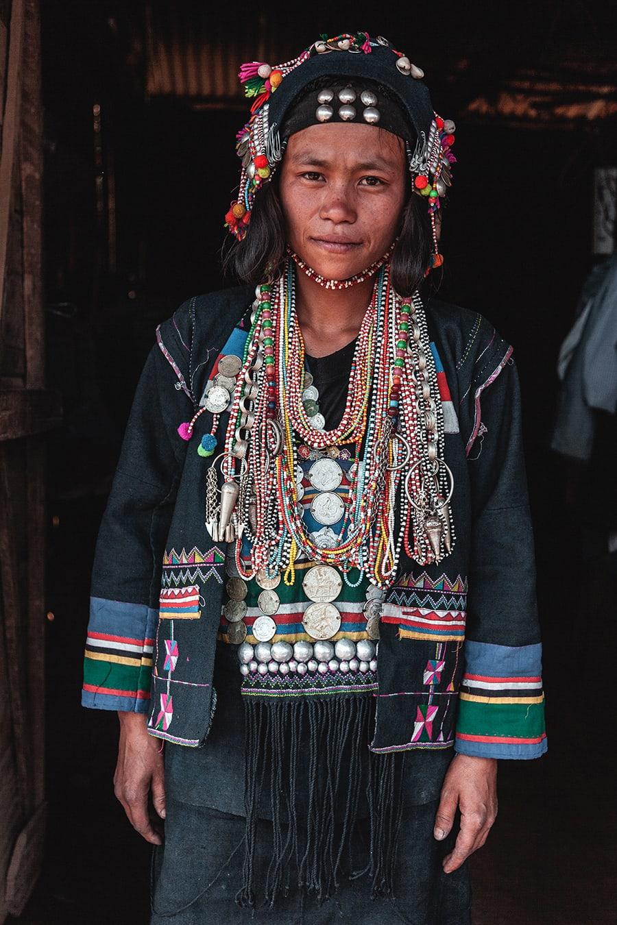 An Akha Ghepia woman in Phongsali, Laos