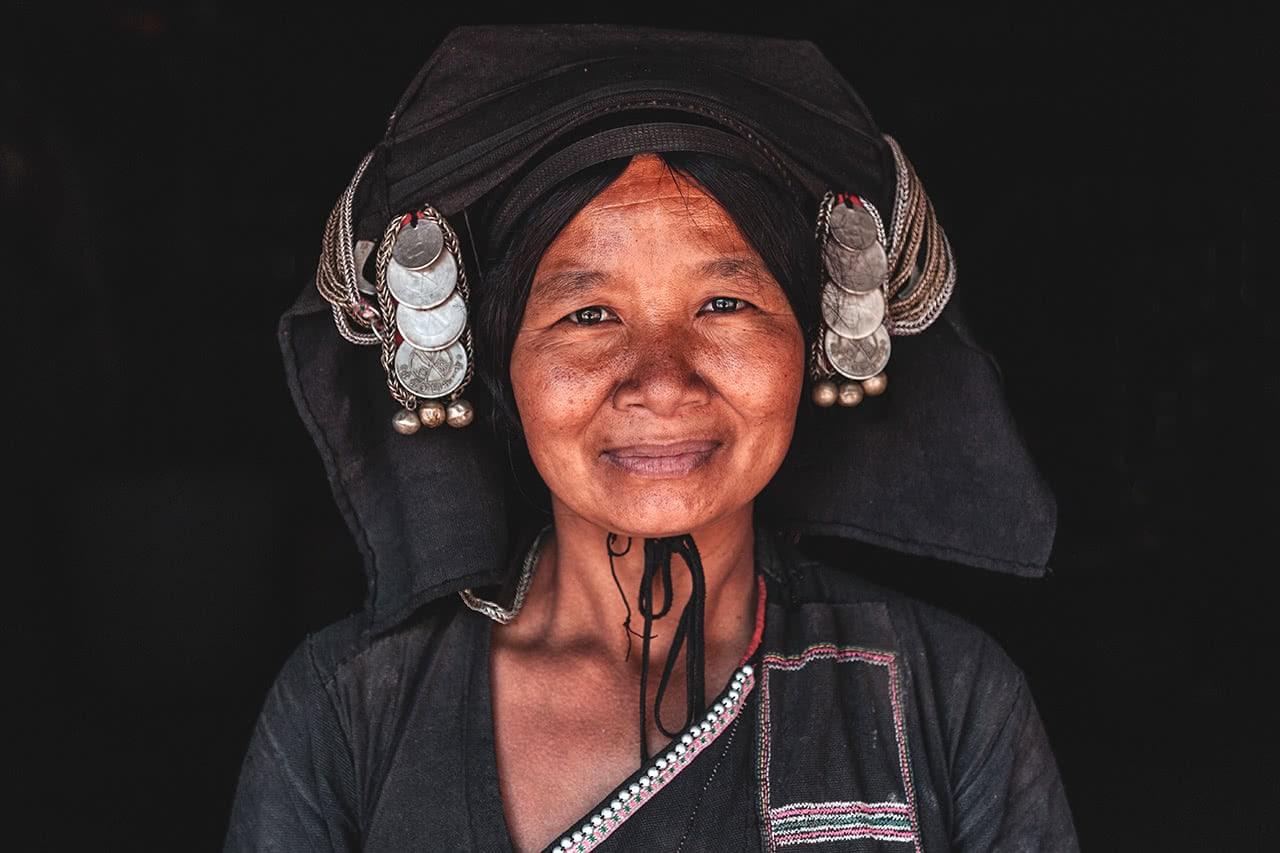 An Akha Pusho woman in Phongsali, Laos.