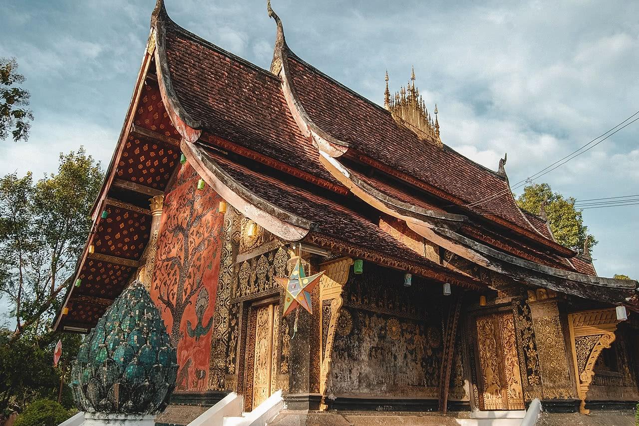 The beautiful Wat Xiengthong in Luang Prabang, Laos.