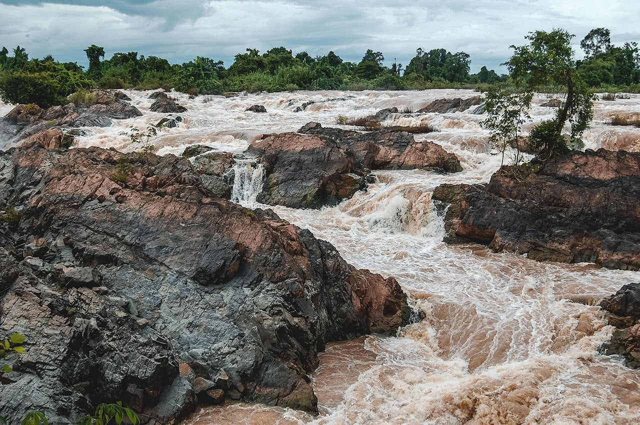 Liphi Falls in southern Laos.