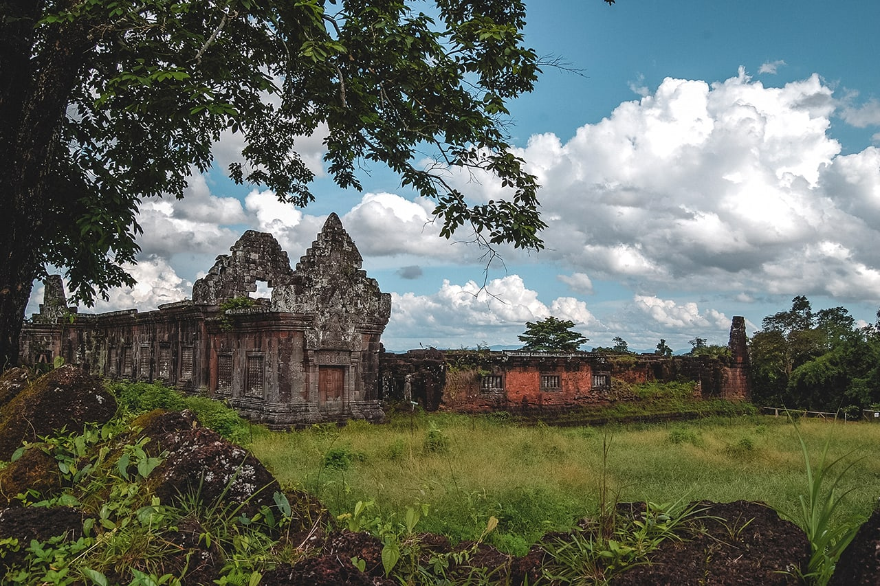 Khmer temple ruins of Wat Phou in southern Laos.