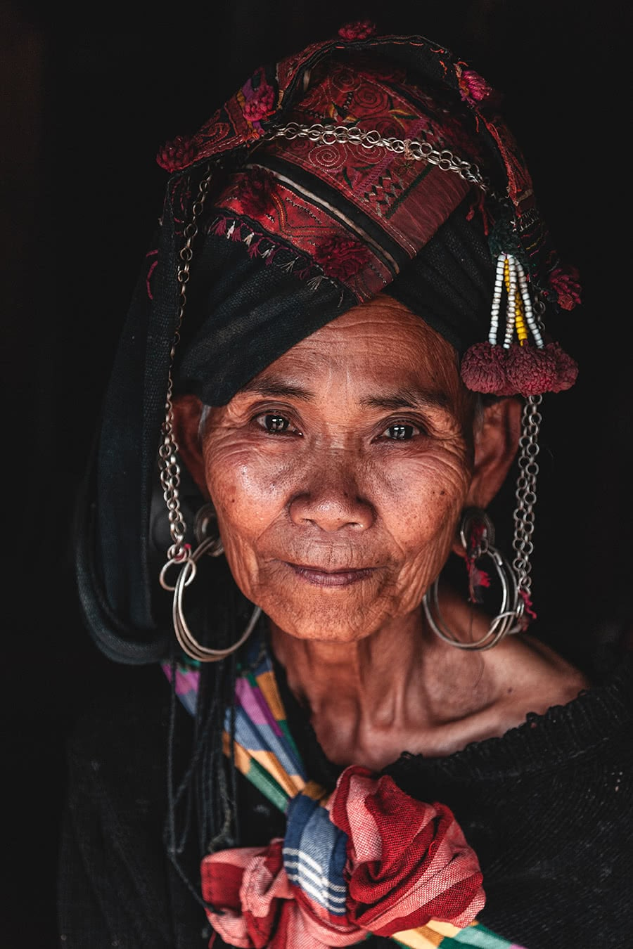 An Akha Oma woman in Phongsali, Laos.