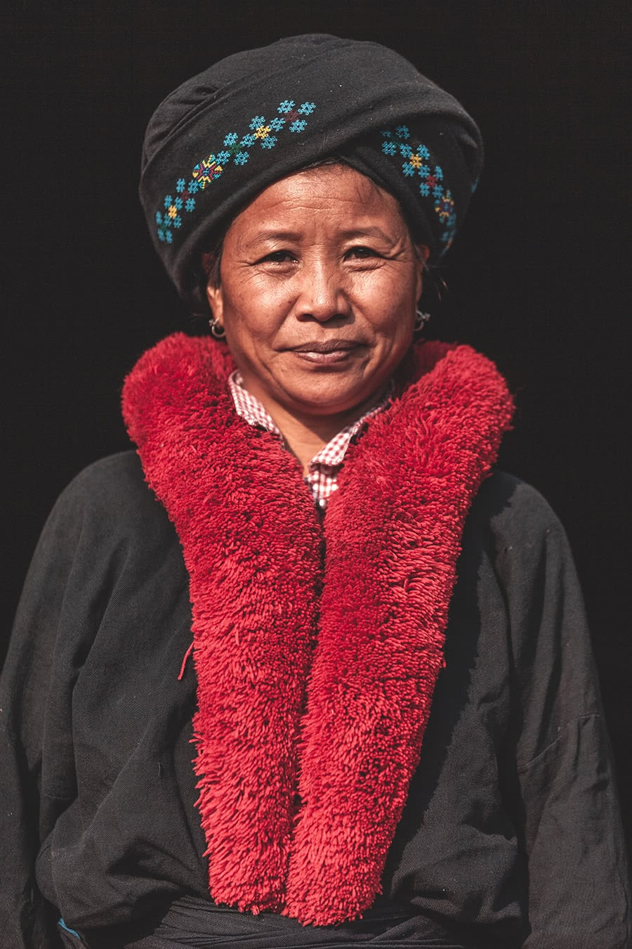A colorful Yao woman in Muang Sing, Laos