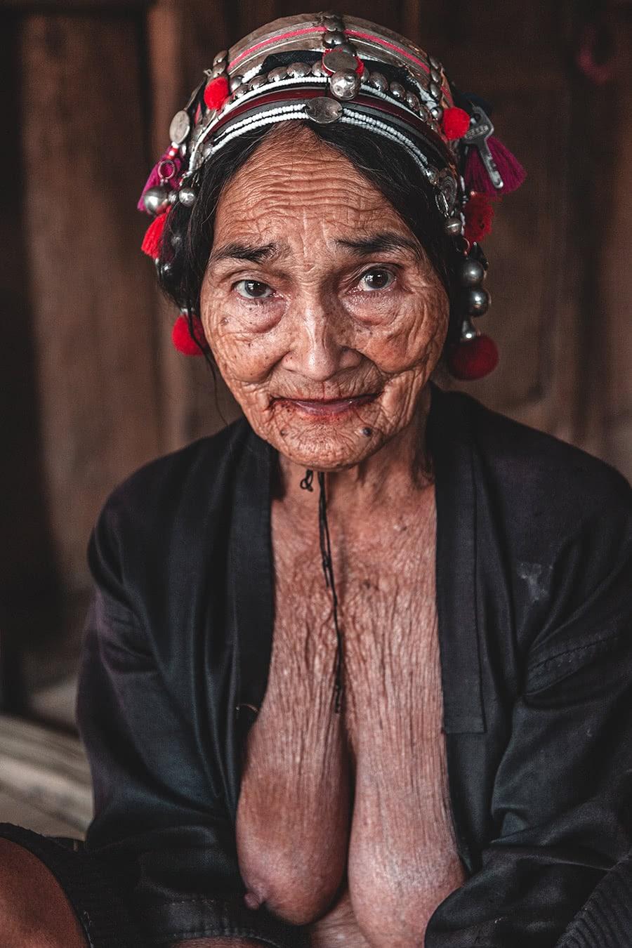 An Akha woman in Muang Sing, Laos.