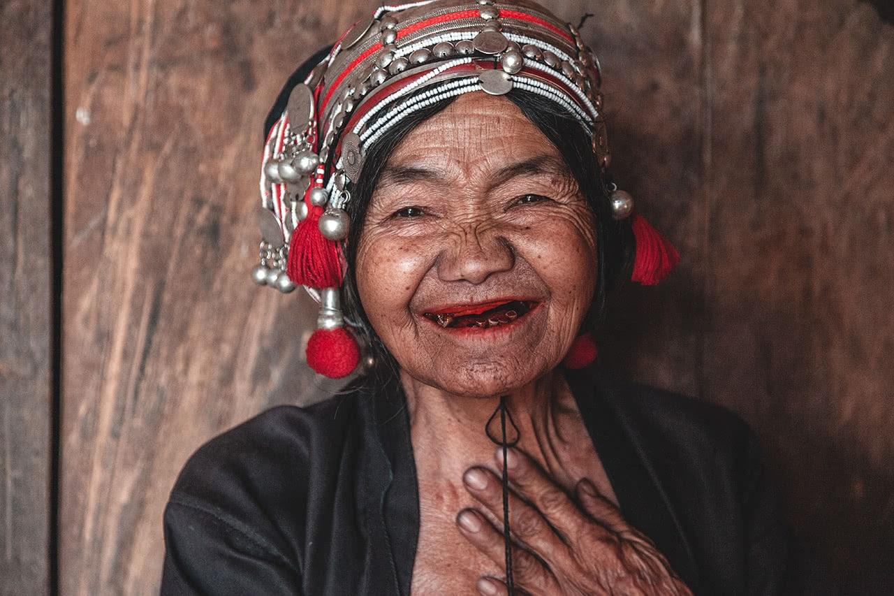 An Akha woman in Muang Long, Laos.