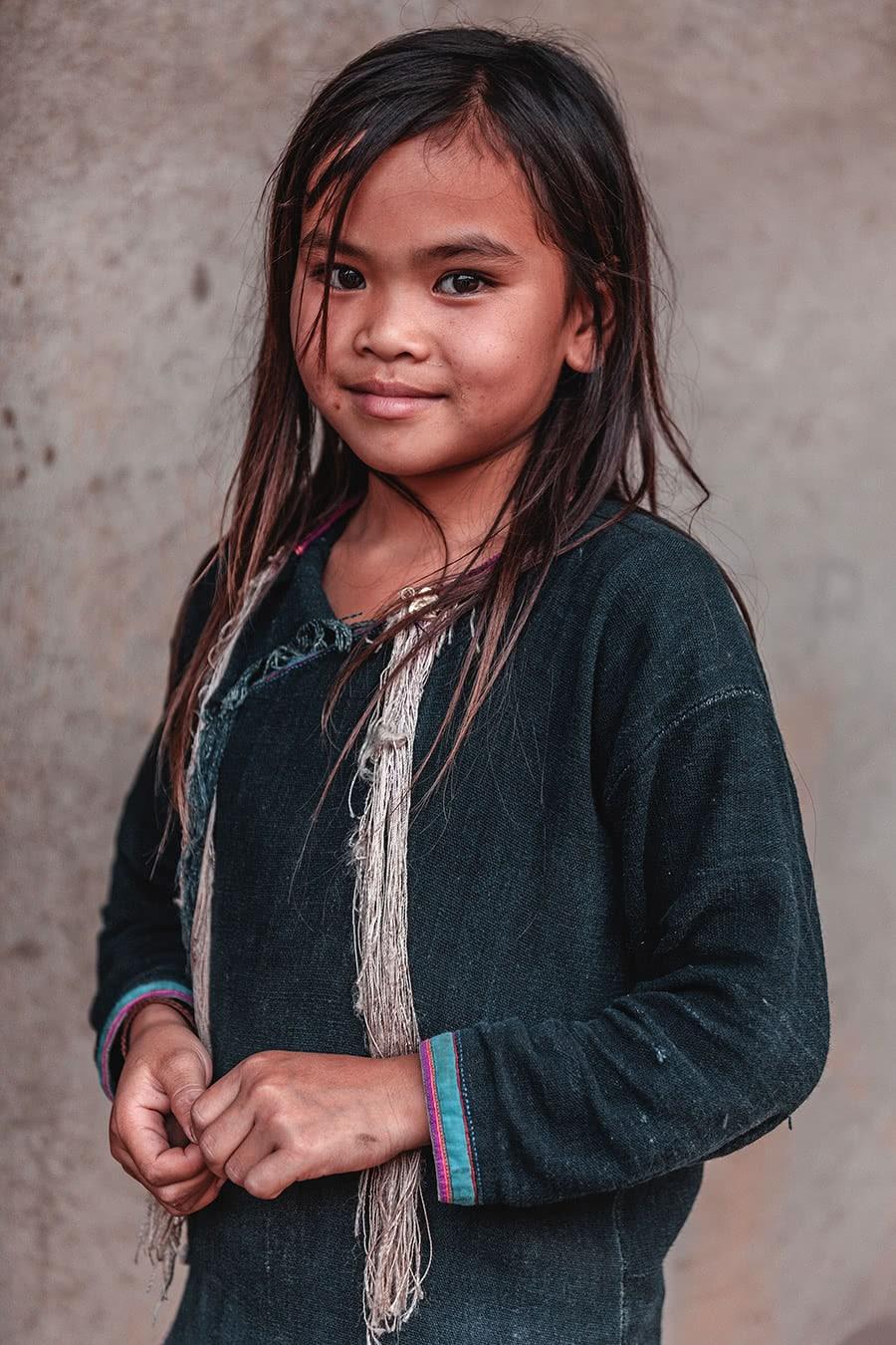 A young Lantan girl in Luang Namtha, Laos.