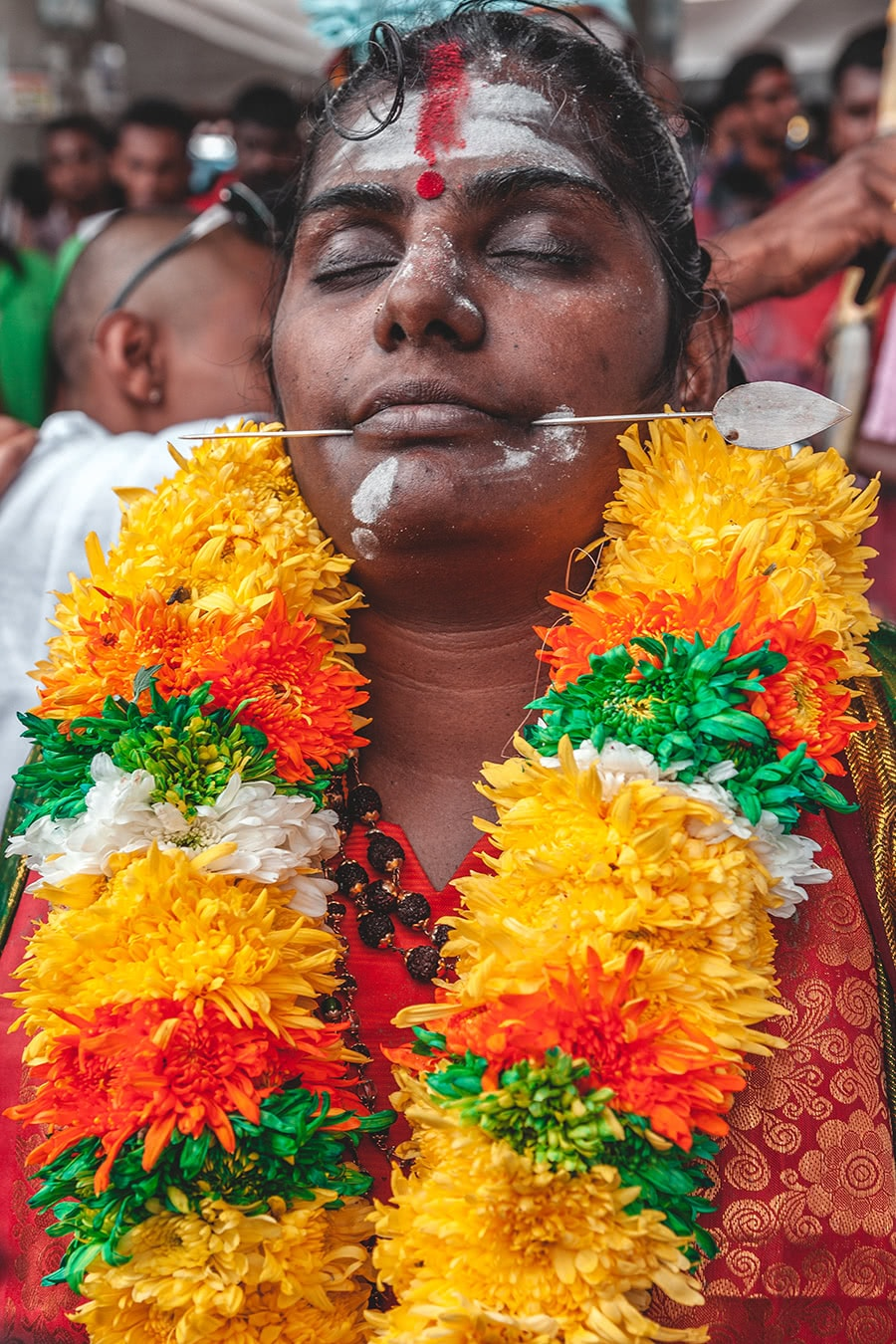 Devotee at the Thaipusam festival in Kuala Lumpur, Malaysia.