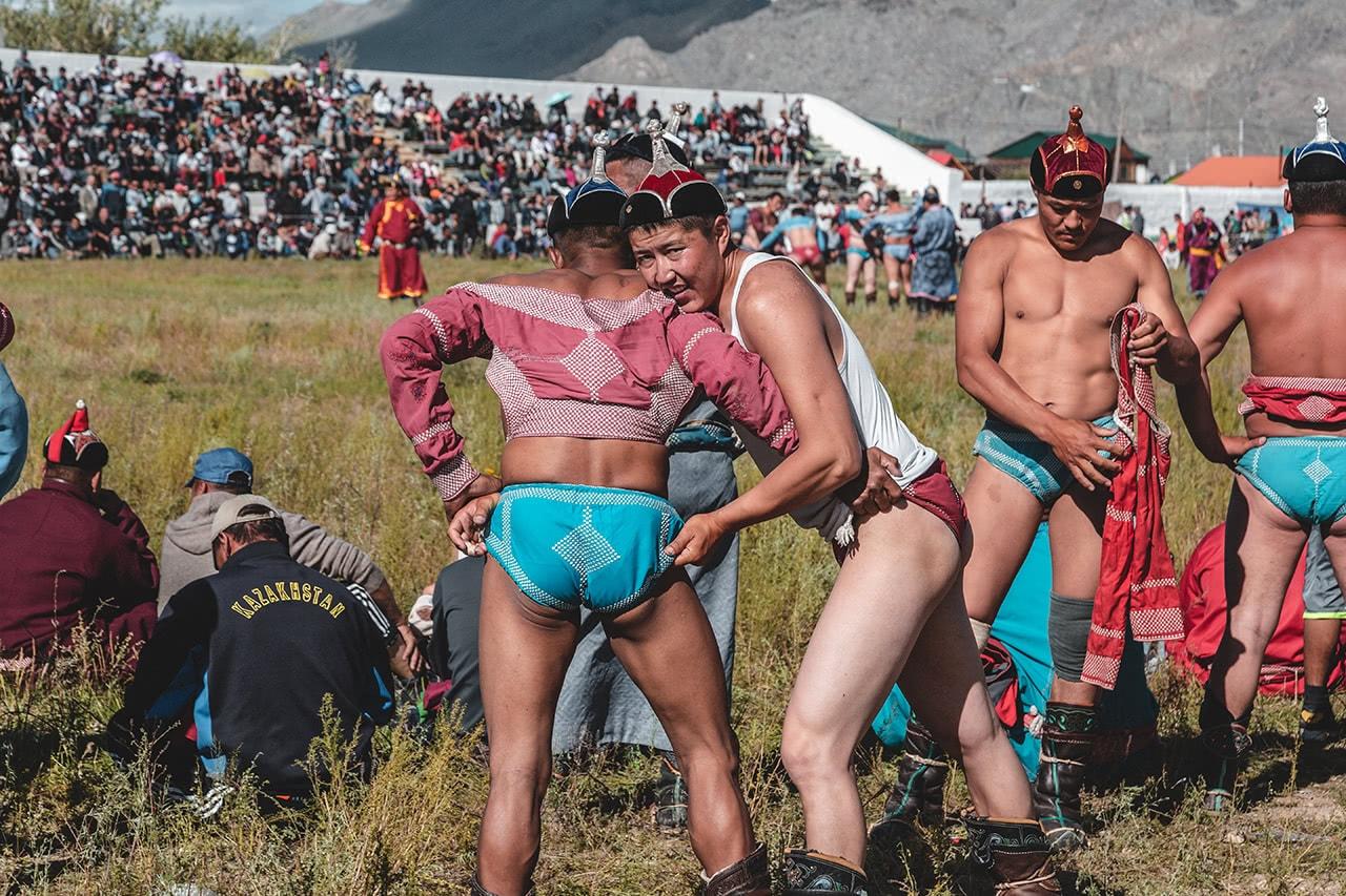 Nadaam Festival in Bayan Ulgii, western Mongolia.