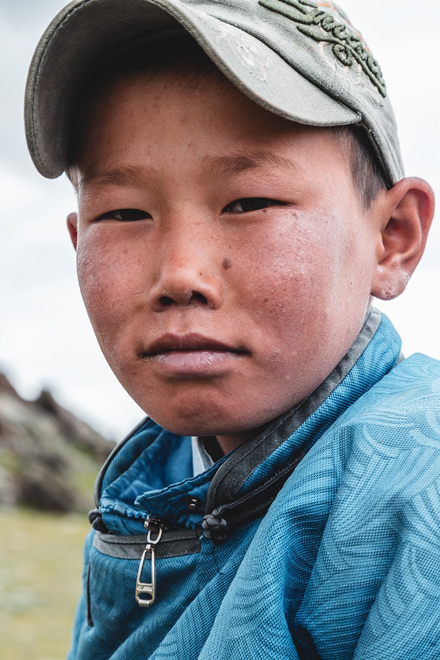 A young sheep herder in Bayan Ulgii province, western Mongolia.