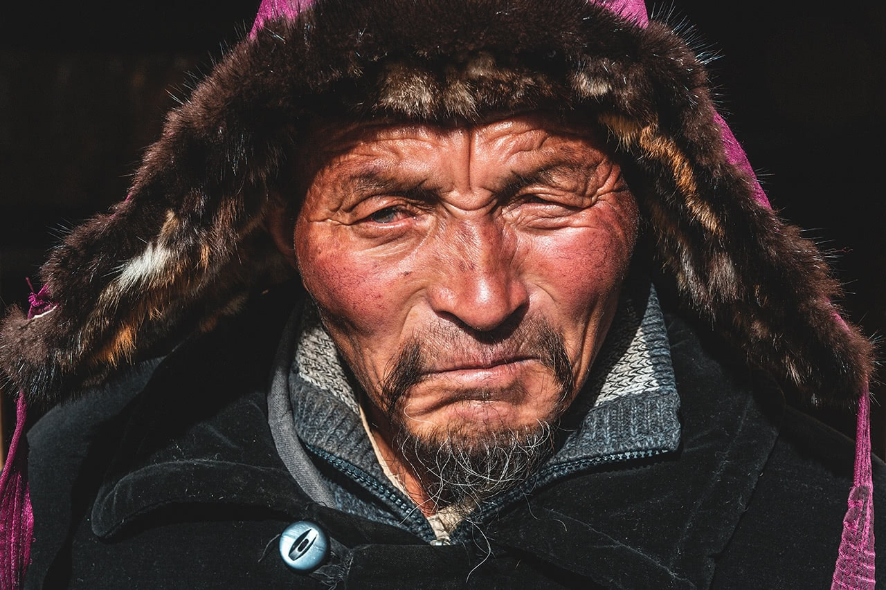 A Kazak nomad who lives on the base of Sair Mountain in Khovd Province, Mongolia.